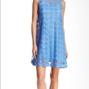 Donna Morgan Blue Sleeveless Lace Dress Size 8